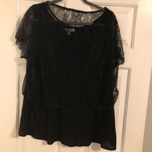 Tank with Lace Crop Overlay